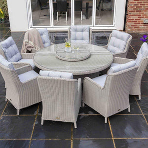 Astor 8 Seater Round Dining Set - EnviroBuild Outdoor & Garden