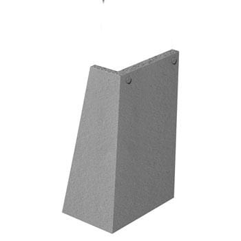 Marley Concrete Plain Tiles 90° Ext Angle Left Hand - All Colours