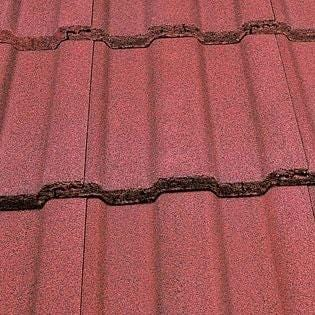 Marley Ludlow Major Concrete Roof Tile in Dark Red