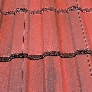 Marley Ludlow Major Concrete Roof Tile in Old English Dark Red