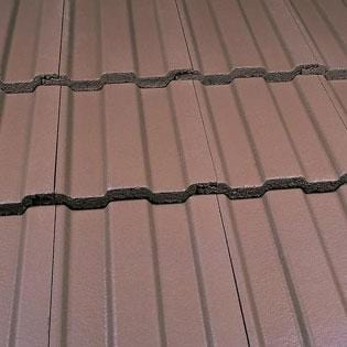 Marley Ludlow Major Concrete Roof Tile in Smooth Brown