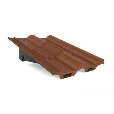 Lowline Double Roman Tile Vent Brown - Easy Trim Roofing