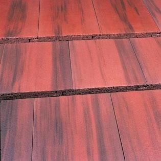 Image of Marley Modern Concrete Roof Tile in Old English Dark Red