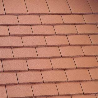 Marley Concrete Plain Roof Tile Mosborough Red