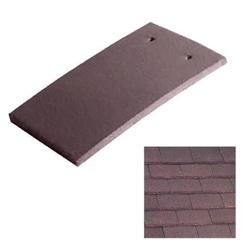 Image of Marley Concrete Plain Roof Tile - Dark Red