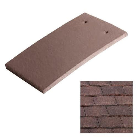 Image of Marley Concrete Plain Roof Tile - Natural Red