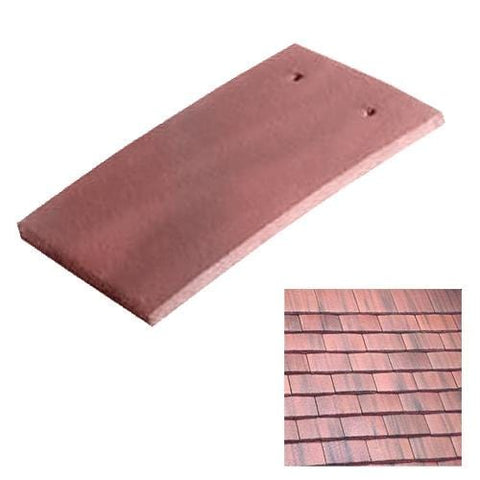 Image of Marley Concrete Plain Roof Tile Old English Dark Red