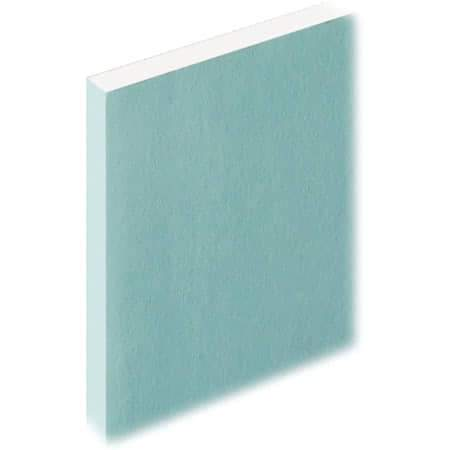 Knauf Moisture Panel Plasterboard Tapered Edge - 2.4m x 1.2m x 12.5mm - Knauf Building Materials