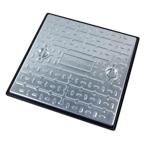 Steel Manhole Cover and Frame 600 x 600 x 30mm (5 Tonne) - Clark-Drain Drainage