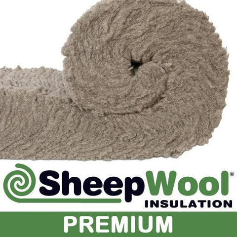 100% SHEEPWOOL INSULATION 2 x 570MM  x 150MM PREMIUM 3.42M2 ROLL - Sheepwool Insulation
