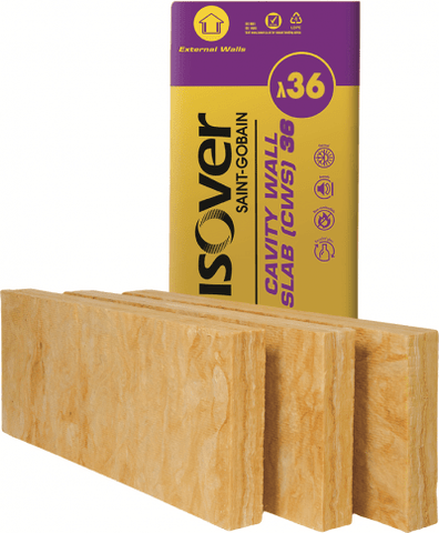 Image of Isover Batt - CWS 36 65mm (8.74m2) (25 Packs) - Isover Insulation
