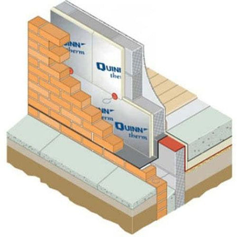 Image of Quinntherm 75mm 2.4m x 1.2m - Quinntherm Insulation