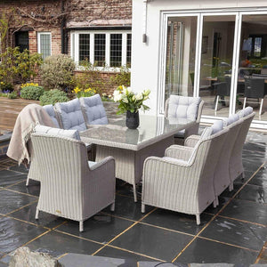 Astor 8 Person Rectangle Dining Set - EnviroBuild Outdoor & Garden