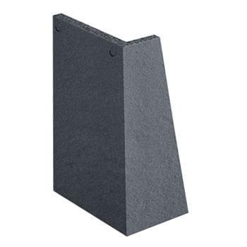 Marley Concrete Plain Tiles 90° Ext Angle Right Hand - All Colours