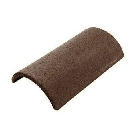 Redland Concrete Half Round Ridge 450mm Brown