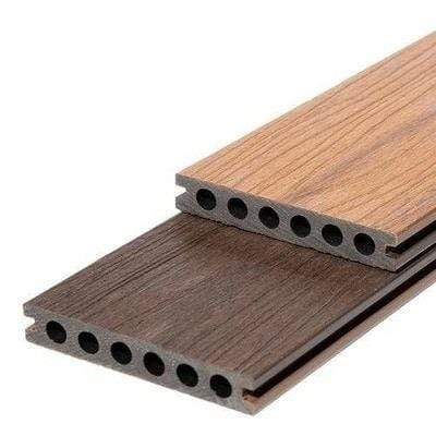 Image of RynoTerrace Signature Reversible Composite Deck Board - 3m x 142mm x 22mm- All Colors - Ryno Outdoor & Garden