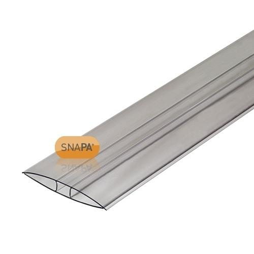 SNAPA 10mm Clear Polycarbonate H Section 3m