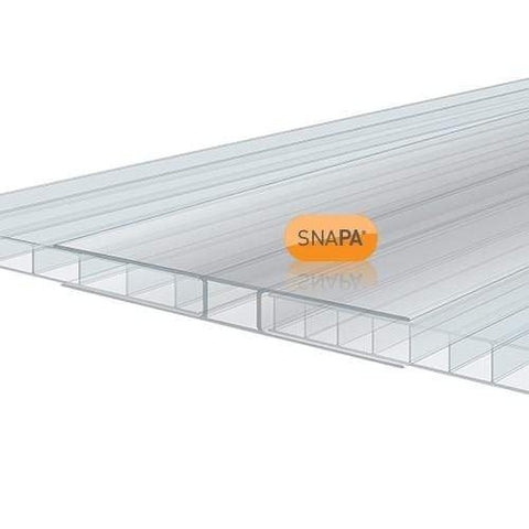 Image of SNAPA 10mm Clear Polycarbonate H Section 3m - Clear Amber Roofing