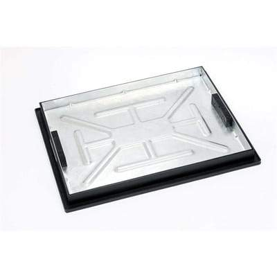 Recessed Locking Manhole Cover and Frame 600 x 450mm (5 Tonne Sealed) - Clark-Drain Drainage