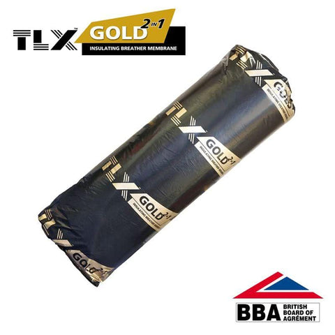 Image of Thinsulex TLX Gold Multifoil 1.2m x 10m (12m2 roll) - TLX Insulation