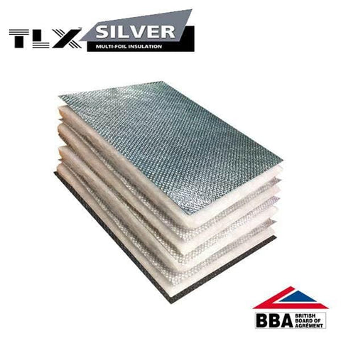 Thinsulex TLX Silver Multifoil 1.2m x 10m (12m2 roll) - TLX Insulation