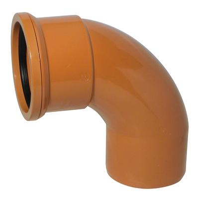 110mm Single Socket 87° Bend Swept - Floplast Drainage