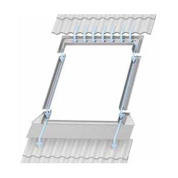 Image of VELUX EDW MK04 0000 Single 120mm Tile Flashing 78cm x 98cm - Velux Roofing