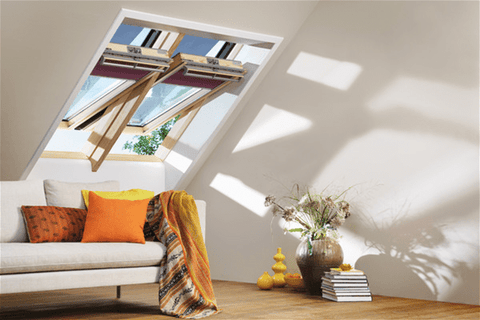 VELUX GGL 3070 Pine Laminated Centre Pivot Roof Window - All Sizes - Velux Roof Windows