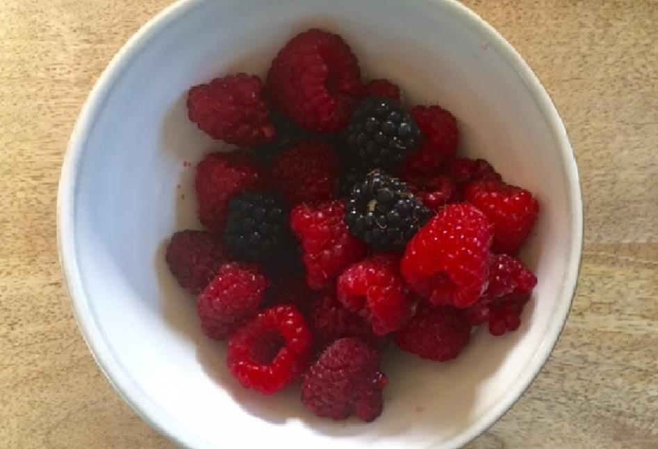 Blackberries and raspberries are in season. Enjoy!