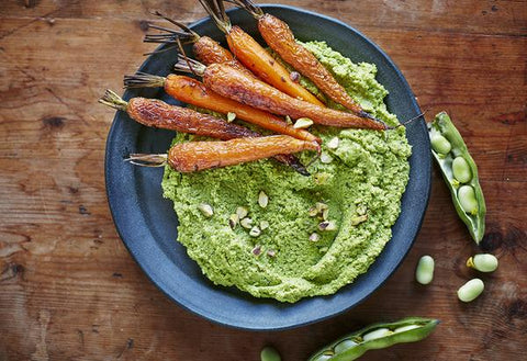 Broad bean and pistachio hummus by Nourish by Jane Clarke