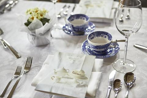 Nourish Afternoon Tea table setting