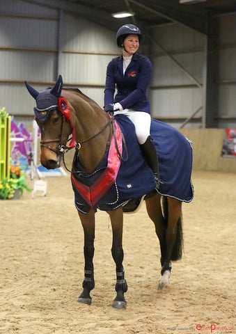 Zoe Potter show jumper supports Nourish by Jane Clarke meal replacement drinks
