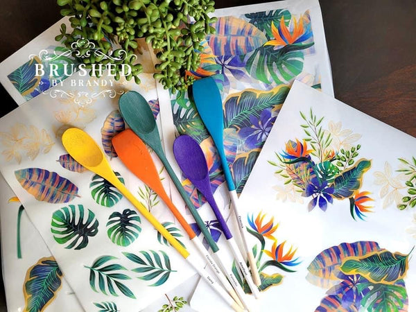Belles and Whistles by Dixie Belle - Tropical Leaves Transfer