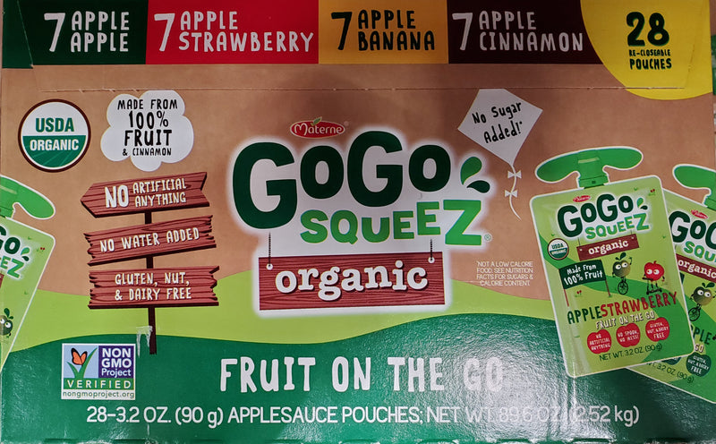 Materne Gogo Squeez Organic Fruit On The Go