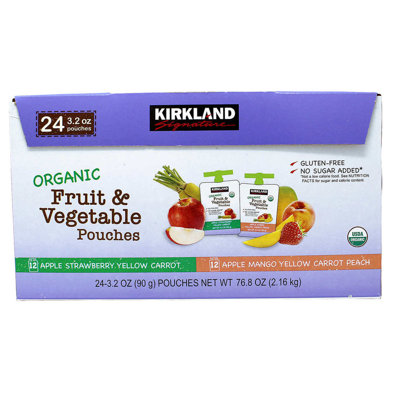 KS Organic Fruit and Veggie Pouch, 3.2oz (24ct)
