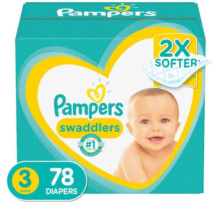 Pampers Swaddlers Diapers Super Pack - Size 3(78 ct.)