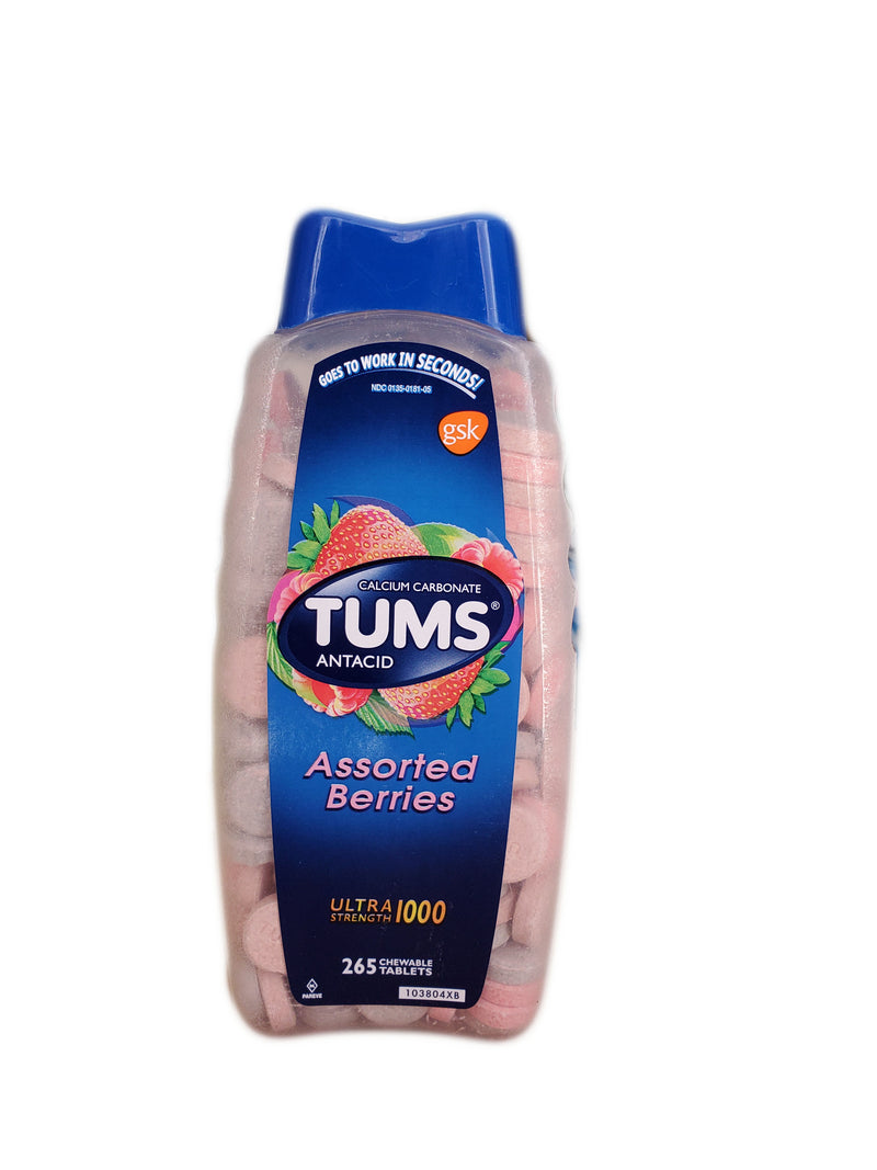 Tums Antacid Ultra Strength - Assorted Berries (265ct)