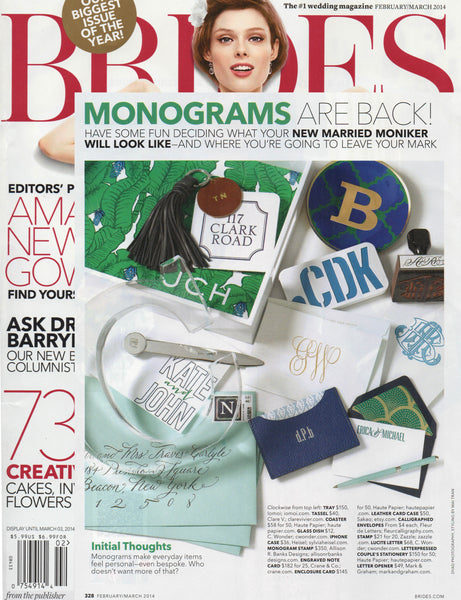 monograms in brides