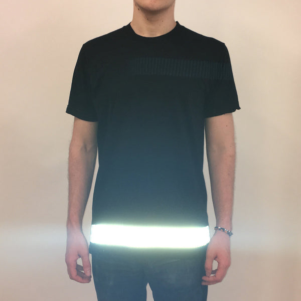 reflective band tee - HEISEL  - 3