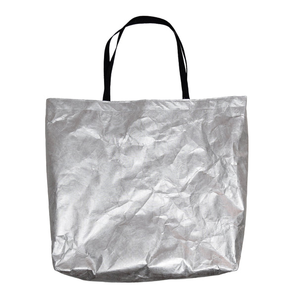 silver tyvek shopping bag tote by Heisel
