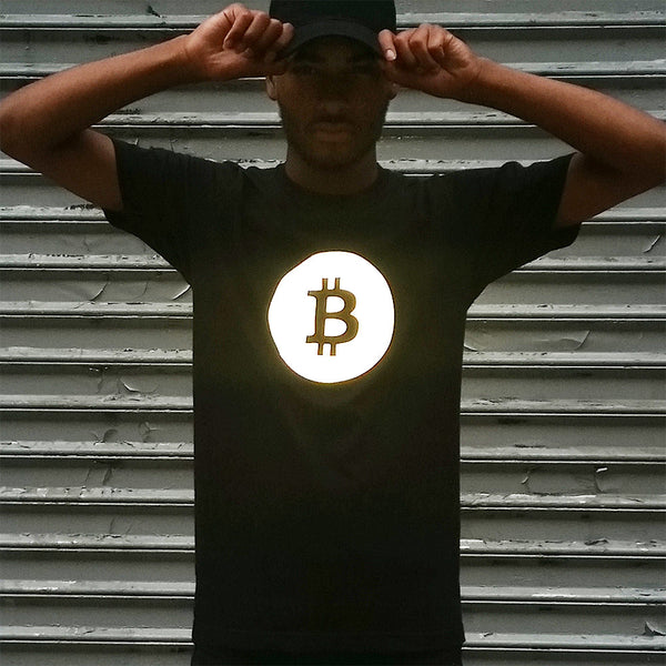 Bitcoin Tee with Black Reflective - HEISEL  - 8