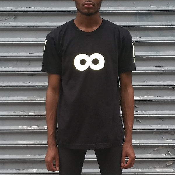 Infinity Tee with Black Reflective by HEISEL