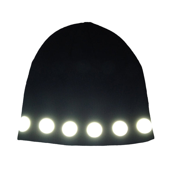 reflective circles watch cap by HEISEL