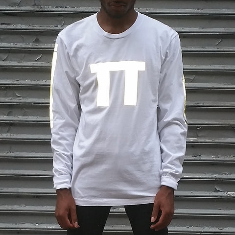 """PI"" long sleeve tee w/ black reflective by HEISEL"