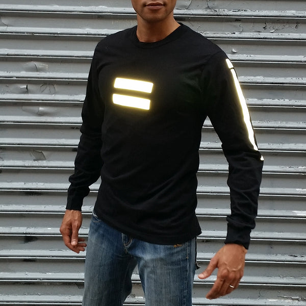 Equanimity long sleeve tee with 3M reflective by HEISEL