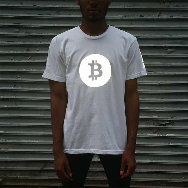 Bitcoin Tee with Black Reflective - HEISEL  - 3