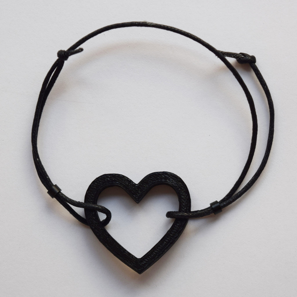 Carbon Heart Bracelet by HEISEL