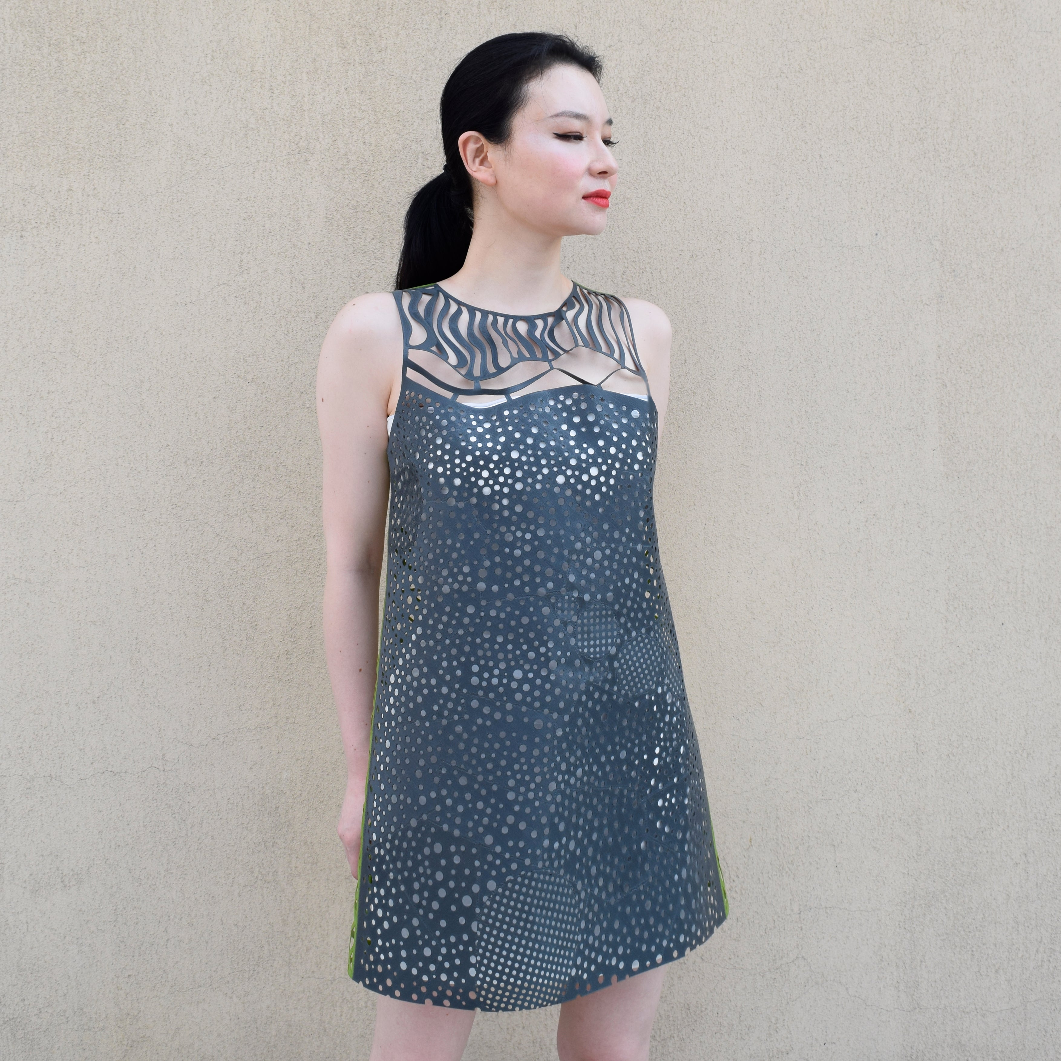 custom 3D printed dress by HEISEL