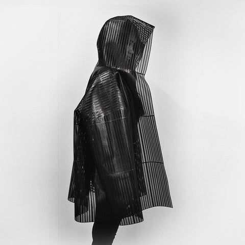 custom 3D printed coat by HEISEL
