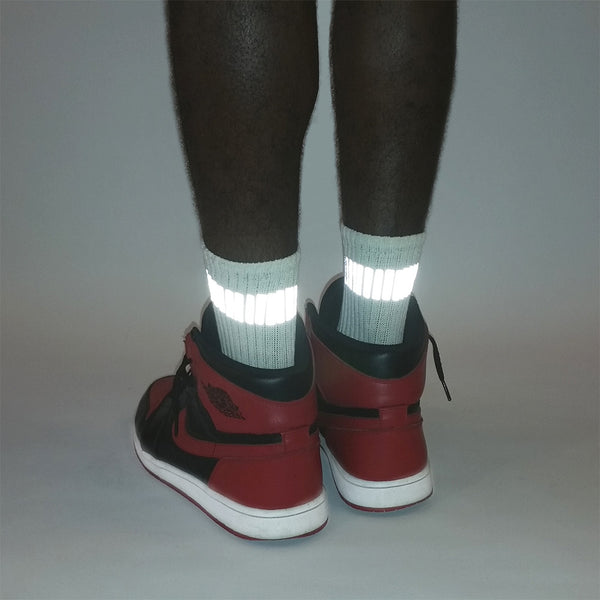 one inch reflective band socks by HEISEL